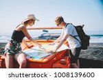 romantic hipster couple... | Shutterstock . vector #1008139600