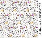 handdrawn love seamless pattern | Shutterstock .eps vector #1008143269