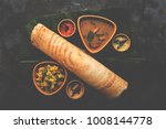 paper masala dosa is a south... | Shutterstock . vector #1008144778