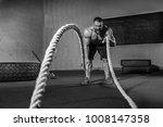 men with rope in functional...   Shutterstock . vector #1008147358