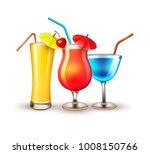 summer cocktail juice martini... | Shutterstock .eps vector #1008150766