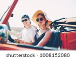 portrait of hipster couple... | Shutterstock . vector #1008152080