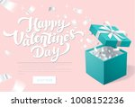 valentines day promo banner... | Shutterstock .eps vector #1008152236