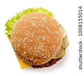 fresh cheeseburger isolated on... | Shutterstock . vector #1008155014