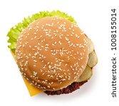 Fresh Cheeseburger Isolated On...