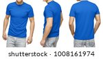 young male in blank blue t... | Shutterstock . vector #1008161974