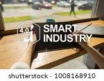 smart industry. industrial and... | Shutterstock . vector #1008168910