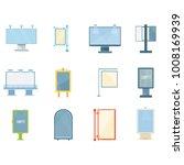 set of colorful billboards ...   Shutterstock .eps vector #1008169939