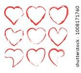heart icon set  vector hearts... | Shutterstock .eps vector #1008171760
