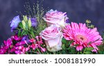 bouquet of fresh pink spring... | Shutterstock . vector #1008181990