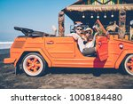 male and female tourists making ... | Shutterstock . vector #1008184480