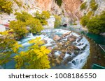 many tourists visit waterfalls... | Shutterstock . vector #1008186550