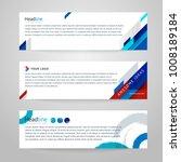 vector set of abstract design...   Shutterstock .eps vector #1008189184