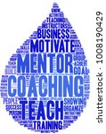 coaching word cloud on a white... | Shutterstock .eps vector #1008190429