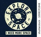explore space slogan graphic... | Shutterstock .eps vector #1008191848
