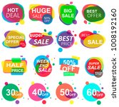 set of stickers and badges.... | Shutterstock .eps vector #1008192160