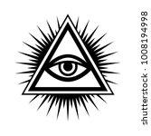 all seeing eye  the eye of... | Shutterstock . vector #1008194998