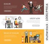 deadline horizontal banners... | Shutterstock .eps vector #1008199816