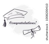 graduation university square... | Shutterstock . vector #1008200410