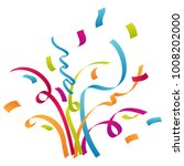 confetti and party background... | Shutterstock .eps vector #1008202000