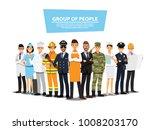 people group different job set  ... | Shutterstock .eps vector #1008203170