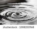 Circles On The Water Closeup...