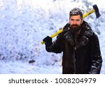 macho with beard and mustache...   Shutterstock . vector #1008204979