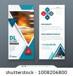 dl flyer design. teal template... | Shutterstock .eps vector #1008206800