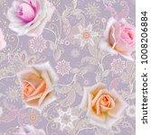 seamless pattern. decorative... | Shutterstock . vector #1008206884