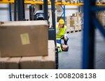 warehouse workers after an...   Shutterstock . vector #1008208138