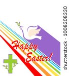 greeting easter card with cut... | Shutterstock . vector #1008208330