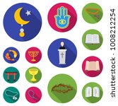 religion and belief flat icons... | Shutterstock .eps vector #1008212254