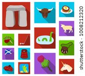 country scotland flat icons in... | Shutterstock .eps vector #1008212320