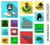 country scotland flat icons in... | Shutterstock .eps vector #1008212323