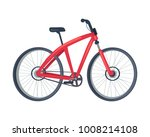 bike of red color  poster with... | Shutterstock .eps vector #1008214108