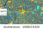 nagoya   japan  colorful vector ... | Shutterstock .eps vector #1008215320