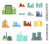 factory and facilities cartoon... | Shutterstock .eps vector #1008215470