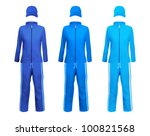 blank sport suits template. | Shutterstock .eps vector #100821568