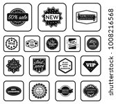 different label black icons in... | Shutterstock .eps vector #1008216568