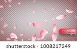 pink sakura falling petals...   Shutterstock .eps vector #1008217249