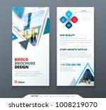 dl flyer design. blue template... | Shutterstock .eps vector #1008219070