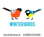 winter birds are tit and... | Shutterstock .eps vector #1008222400