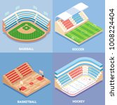 sport stadium vector isometric... | Shutterstock .eps vector #1008224404