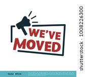 we've moved letter vector... | Shutterstock .eps vector #1008226300