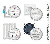 meter icon set. vector... | Shutterstock .eps vector #1008230626
