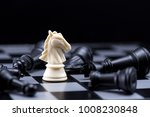 one  chess pieces staying...   Shutterstock . vector #1008230848
