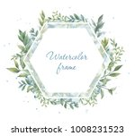 floral wreath. botanical... | Shutterstock . vector #1008231523