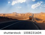 road in the desert of iran.... | Shutterstock . vector #1008231604