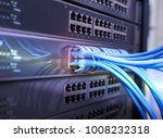 ethernet cable on network... | Shutterstock . vector #1008232318