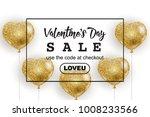 valentine's day sale web banner ... | Shutterstock .eps vector #1008233566
